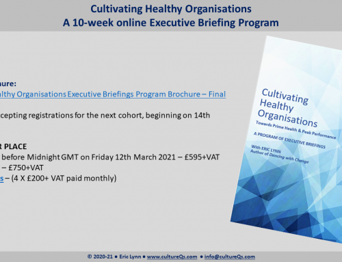 Why should we focus on Organisation Health?
