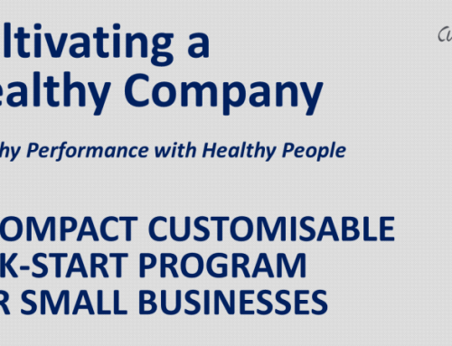 Cultivating a Healthy Company: Compact Kick-Start Program for Start-Ups