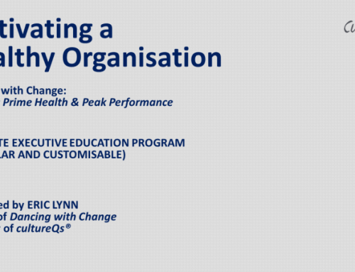 Cultivating Healthy Organisations Customised Private Executive Education Program