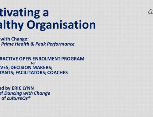 Cultivating Healthy Organisations – An Open Enrollment Program